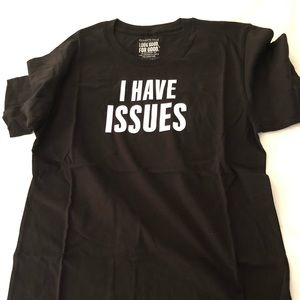 Kenneth Cole I have issues shirt